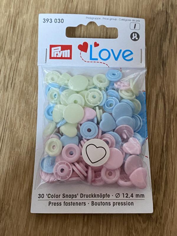 Love Hart Roos/Lichtblauw/Groen