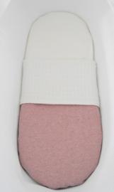 Wiegdeken 'Melange' roze