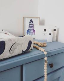 Aankleedkussenhoes 'Little Blue Whale'