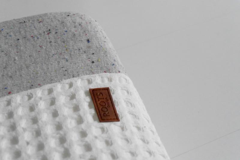 2 x Aankleedkussenhoes 'Melange' lichtgrijs