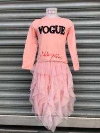 'Vogue' meisjes trui roze.