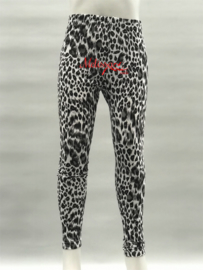 'Leopard' legging zwart.