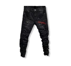 'Willem ' jongens jeans zwart.