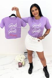 'Rubia ' T-shirt lila.