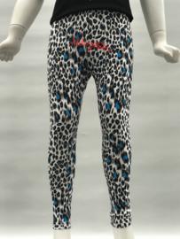 'Leopard' legging blauw.