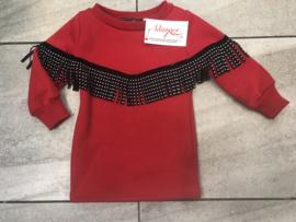Baby jurkje rood.