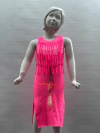 'Manouk' Ibiza stijl jurk roze.