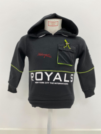 'Royals' jongens sweater zwart.