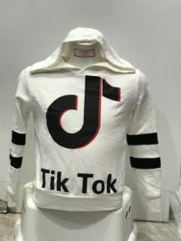 'Tik Tok' hoody wit.
