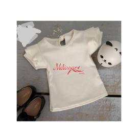 Even witte T-shirt