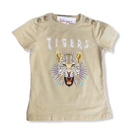 'Tijger ' T-shirt crème.
