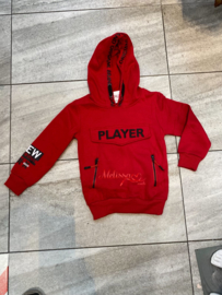 'Player ' jongens sweater rood.
