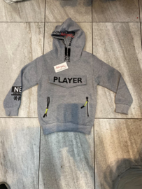 'Player ' jongens sweater grijs.