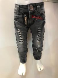 'Dubbel ' rits baby jeans.