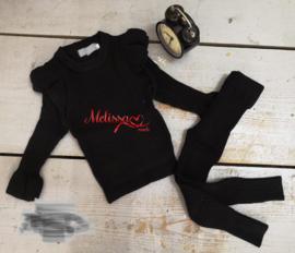 'Manon ' meisjes Huispak zwart.