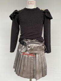 'Ebru' glitter trui zwart.