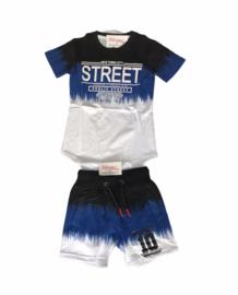'Street' jongens setje blauw.