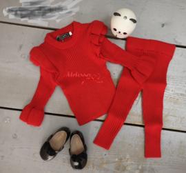 'Manon ' baby Huispak rood.
