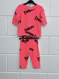 'Jadore' baby setje Neon Roze