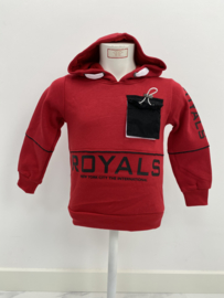 'Royals' jongens sweater rood.