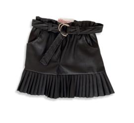 'Brenda' lederlook rok zwart.
