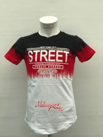 'Street'T-shirt rood.