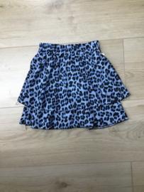 'Leopard ' meisjes Rok blauw.