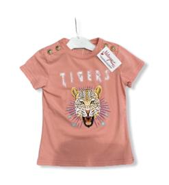'Tijger ' T-shirt roze.