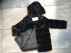 'Rossana' baby bont jasje zwart.