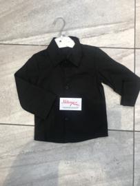 Zwarte baby blouse.