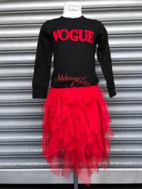 'Vogue' meisjes trui zwart.