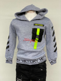 'Victory ' jongens sweater grijs.