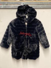 'Teddy ' coat zwart.