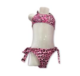 Leopard bikini roze.
