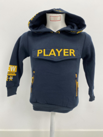 'Player ' jongens sweater blauw.
