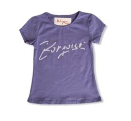 'Bonjour ' T-shirt lila