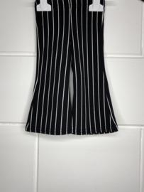 Flared broek zwart krijtstreep.