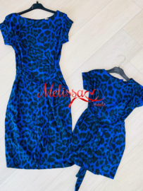 Tijger jurk blauwe .