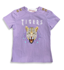 'Tijger 'T-shirt lila