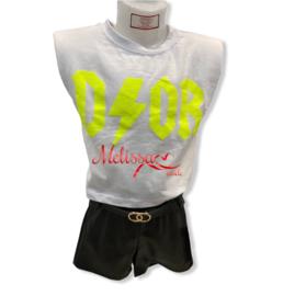 'Kim' Meisjes T-shirt Geel.