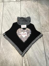 'Love' poncho