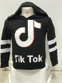 'Tik Tok' hoody zwart.