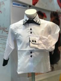 'Sammy'Overhemd wit met das.