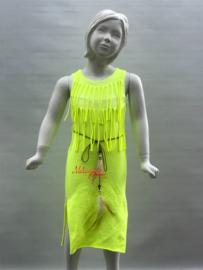'Manouk' Ibiza stijl jurk geel.