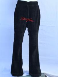 'Kelly' flair pants Rib broek zwart.