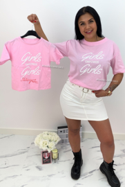 'Rubia' T-shirt roze.