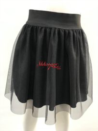 'Renate 'glitter rok zwart.