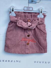 'Rib' meisjes rok roze.