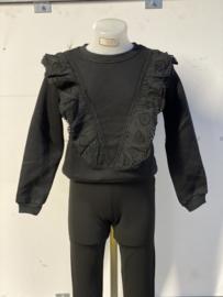 'Mila' meisjes sweater zwart.