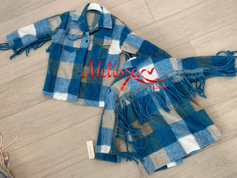 'Maud ' meisjes vest/ jas blauw